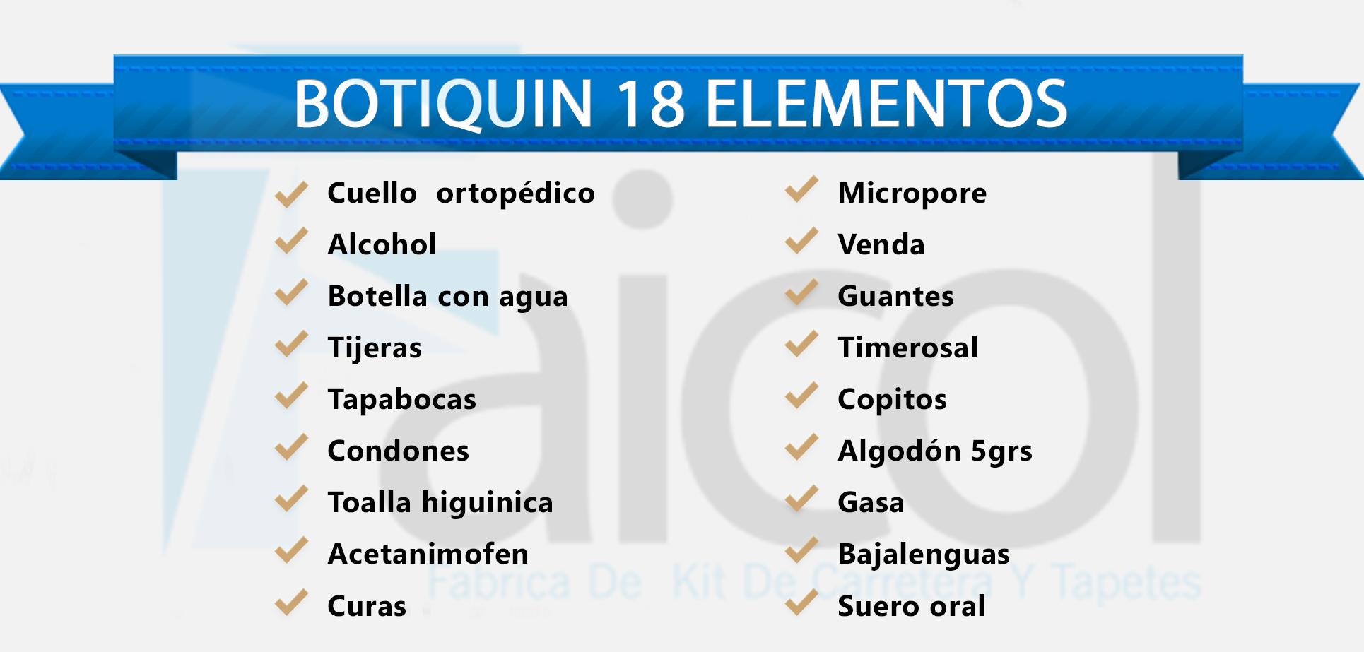 BOTIQUIN 18 ELEMENTOS